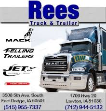 did dodge stop trucks rees truck trailer inc ft dodge ia truck stop service