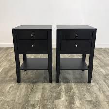 modern black nightstands set