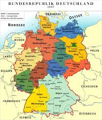 map of countries surrounding germany german states basic facts photos map of the states of germany