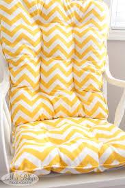 White Rocking Chair Cushion Yellow Rocking Chair Cushions Cushions Decoration