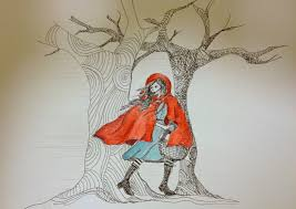 happy panda drawing challenge red riding hood
