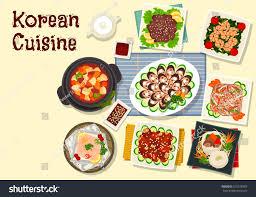 cuisine diet cuisine traditional grilled beef bulgogi เวกเตอร สต อก