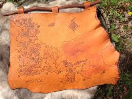 leather map of thrones inspired leather map of westeros