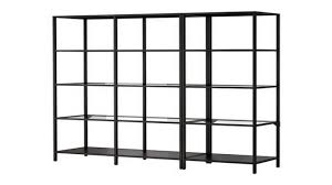 Expedit Shelving Unit by Living Room Storage Units Metal And Glass Shelving Unit Ikea