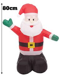 inflatable 80cm father christmas santa snowmandecorations ebay