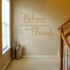 Wel e Bienvenue Gold Wall Decals Quotes — Home Design