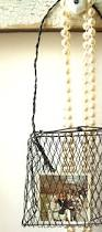 Shabby Chic Wire Baskets by 405 Best Wire And Metal Baskets Images On Pinterest Vintage