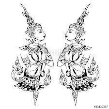 thai design traditional thai art lined design vector template stock image