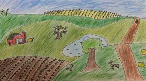 grant wood farm landscapes