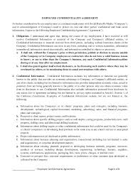 sample employee confidentiality agreement 8 free