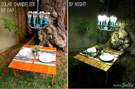 How To Make A Fake Chandelier How To Make A Solar Light Chandelier Homejelly