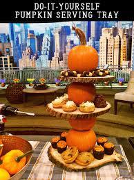 halloween serving tray diy pumpkins as seen on live with kelly u0026 michael east coast