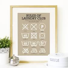 Kitchen Art Ideas by Poster Kitchen Laundry Club Art Laundry Symbols Mid Century