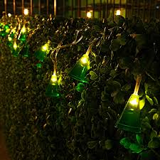 9 84ft 20 led krypton green conical led string lights ambience
