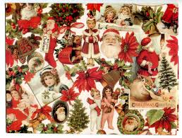 vintage christmas wrapping paper victorian collage pretty old