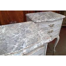 grey metal bedside table exquisite 19th century french grey painted faux marble top bedside