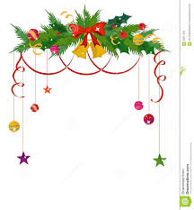 merry border and decoration frame stock vector image