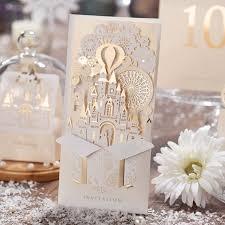 bridal cards 30pcs laser cut wedding invitations kits customizable castle gold