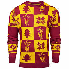 pullover sweater s maroon arizona state sun devils patches pullover