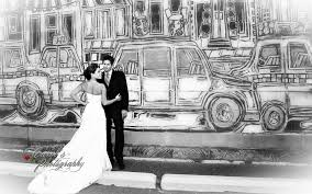 regina wedding photographer wall art with wedding couple regina