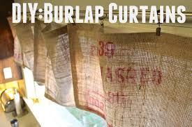 decorating burlap curtains valance for fascinating home