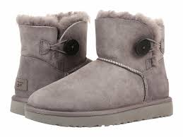 womens boots australia ugg australia mini bailey button ii grey womens boots 9 ebay