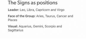 Cancer Face Meme - the signs as positions leader leo libra capricorn and virgo face
