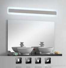 2017 modern acrylic bathroom light makeup mirror lead light
