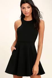 black skater dress black dress skater dress sleeveless dress 49 00