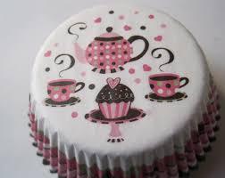 tea with friends teapot u0026 teacup cupcake baking cups