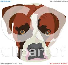 boxer dog yard art clipart illustration of a boxer dog face by prawny 41395
