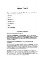 Mental Health Worksheets For Adults Worksheets Mental Health Reading Comprehension