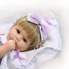 Preferidos Bebe menina Bonita boneca reborn 40 cm pano macio de silicone  @PL93