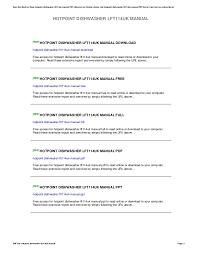 Hotpoint Dishwasher Manual Hotpoint Dishwasher Lft114uk Manual