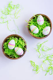 Decorating Easter Eggs With Stickers by Diy Neon Polka Dot Sticker Easter Eggs Design Improvised