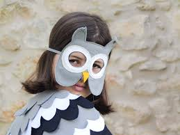 owl mask grey owl mask for kids owl mask bhb kidstyle