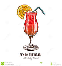 cocktail vector on the beach cocktail stock vector image 90937806