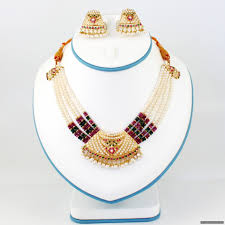 gold pearl necklace sets images Indian pearl necklace set pre owned necklace sets indian JPG