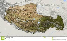 Terrain Map Of Usa by Tibet Relief Map Royalty Free Stock Images Image 5567749