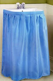 Skirt For Pedestal Sink by Amazon Com New Fabric Sink Skirt Blue Home U0026 Kitchen