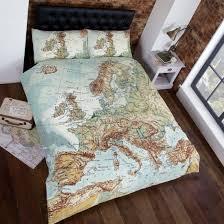 Double Duvet Cover Sets Uk Buy Rapport Urban Unique Map Multi Duvet Cover Set Home Focus At