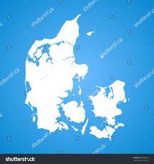denmark map stock vector 268581878 shutterstock