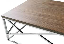 aero chrome wood coffee table modern furniture u2022 brickell collection