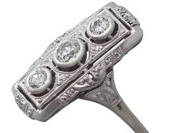 0 42ct diamond and 14k white gold ring art deco style antique