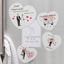 wedding magnets personalized groom wedding magnets just married