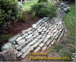 how to build a self retaining garden wall