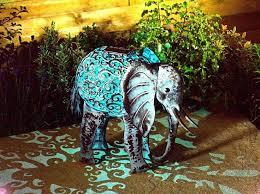 smart garden solar elephant silhouette light garden light figure