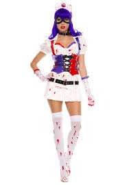 Bloody Nurse Halloween Costume Womens Mess Harley Costume