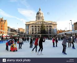 outdoor ice rink old market square nottingham england u k