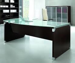 Glass Office Desks Stylish Glass Top Office Desk Regarding Home Desks Foter